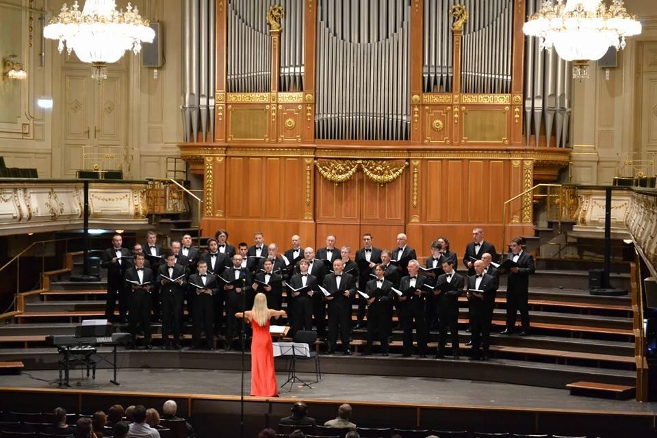 Il coro nella Stefaniensaal di Graz, Ottobre 2014