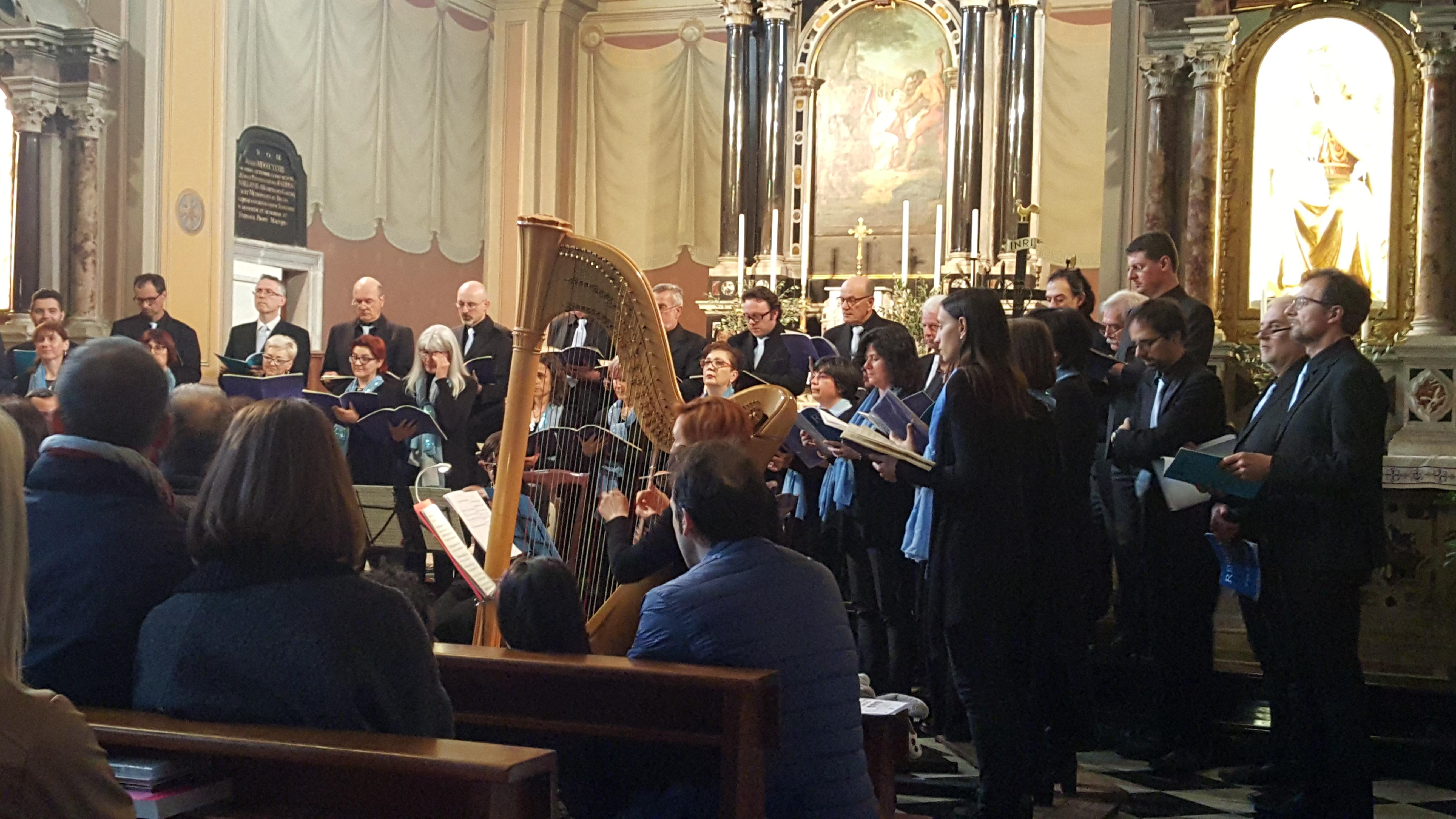 la corale Renato Portelli in concerto a Ruda