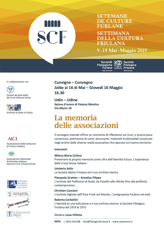 locandina Memoria delle associazioni