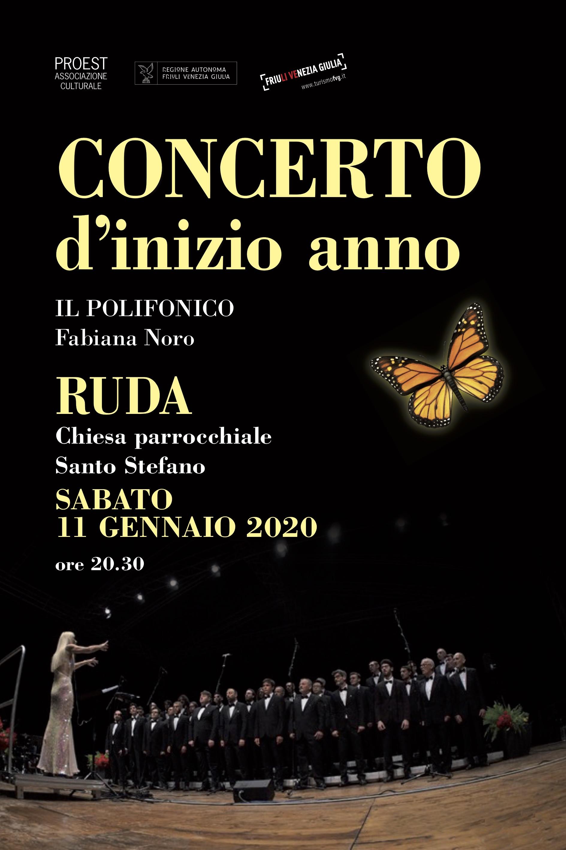 Locandina del concerto di inizio anno 2020