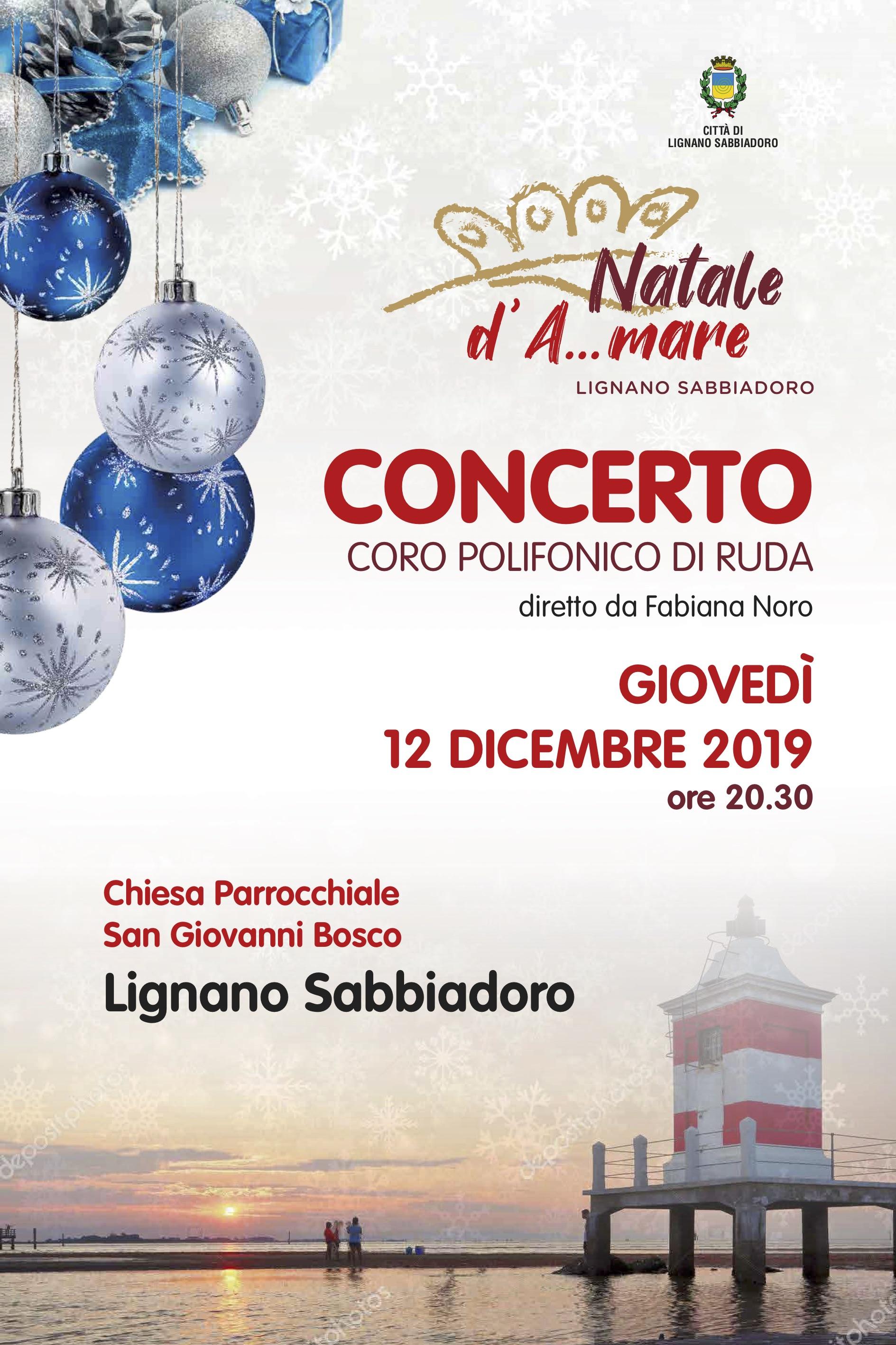 Manifesto del concerto di Lignano