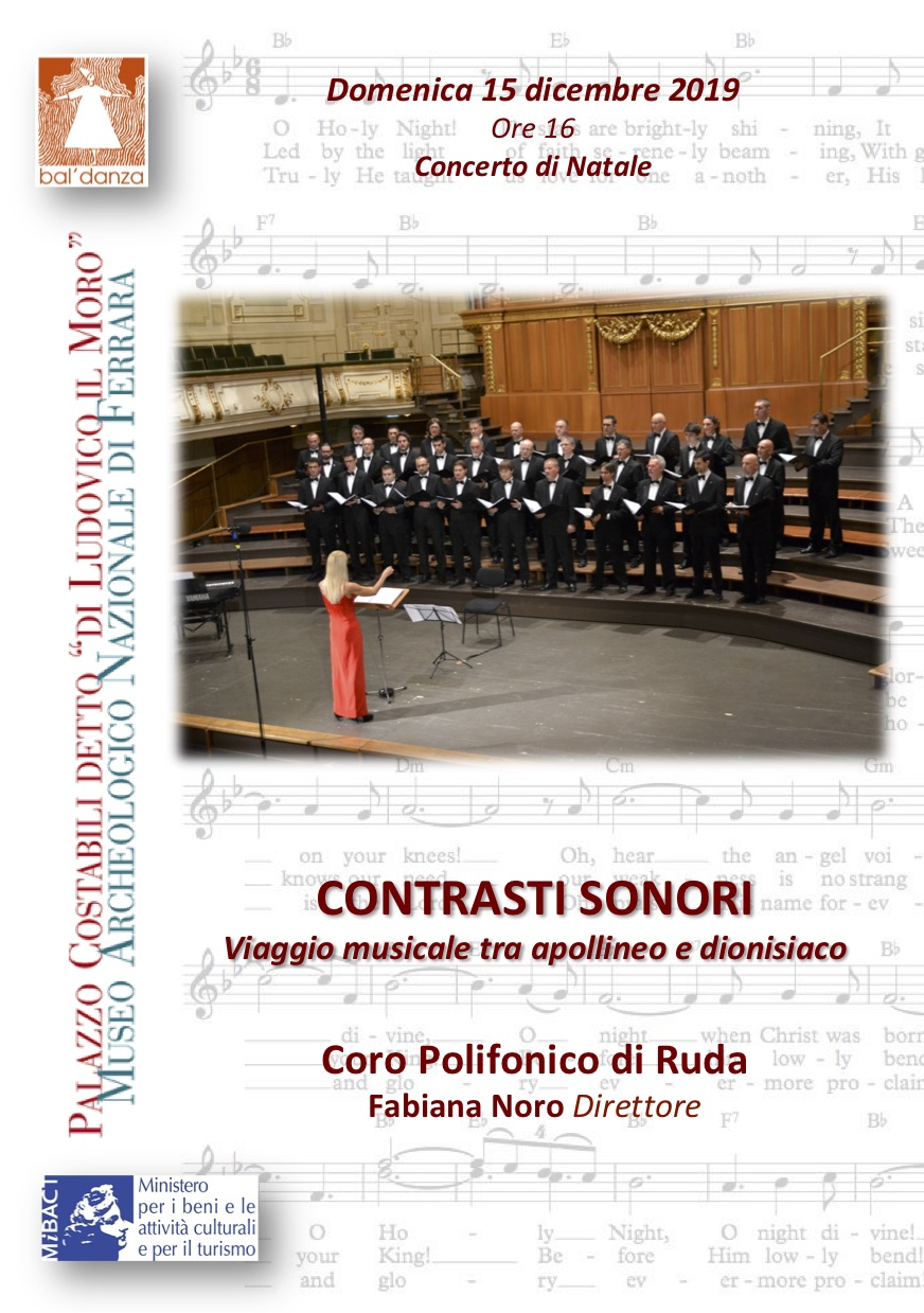 Locandina del concerto di Ferrara